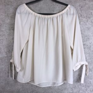 J. Crew Off-Shoulder Tie Sleeve Top Blouse